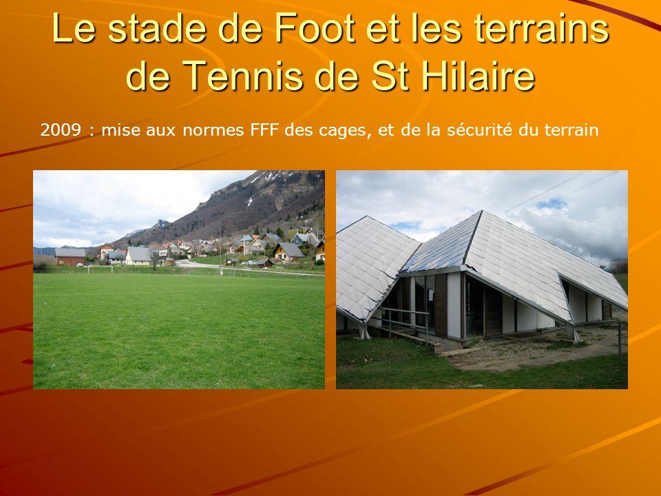Le stade de Foot et les terrains de Tennis de St Hilaire