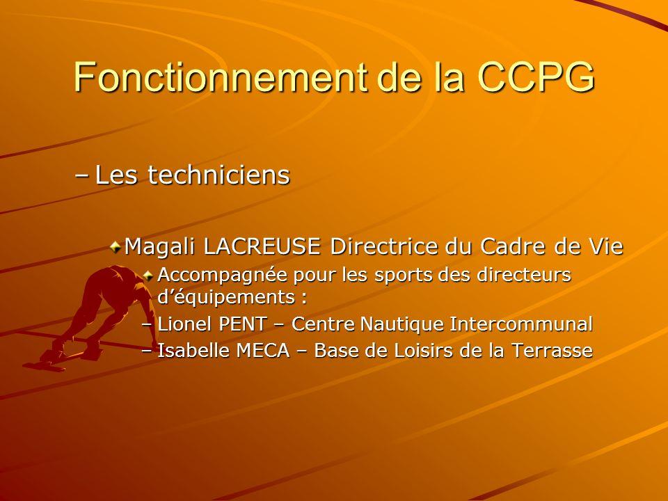 Fonctionnement de la CCPG