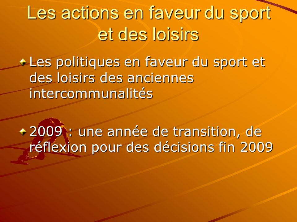 Les actions en faveur du sport et des loisirs