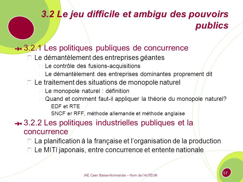 3.2 Le jeu difficile et ambigu des pouvoirs publics
