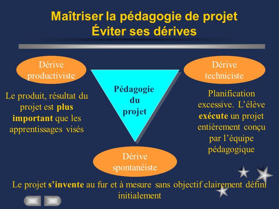 Maîtriser la pédagogie de projet Éviter ses dérives