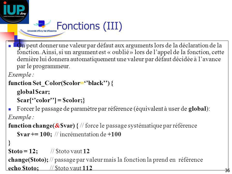 Fonctions (III)