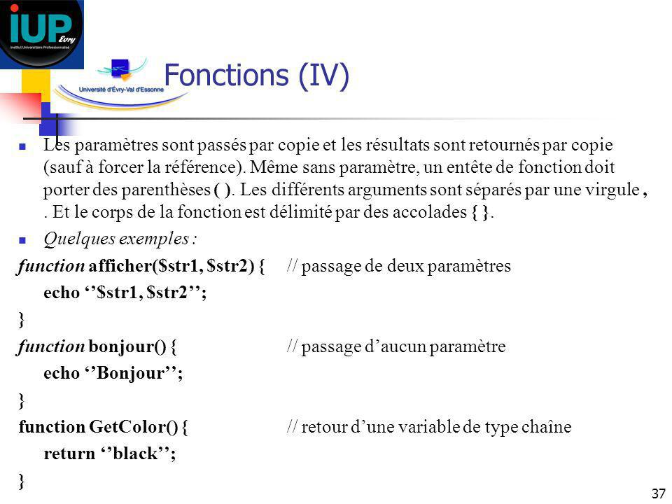 Fonctions (IV)