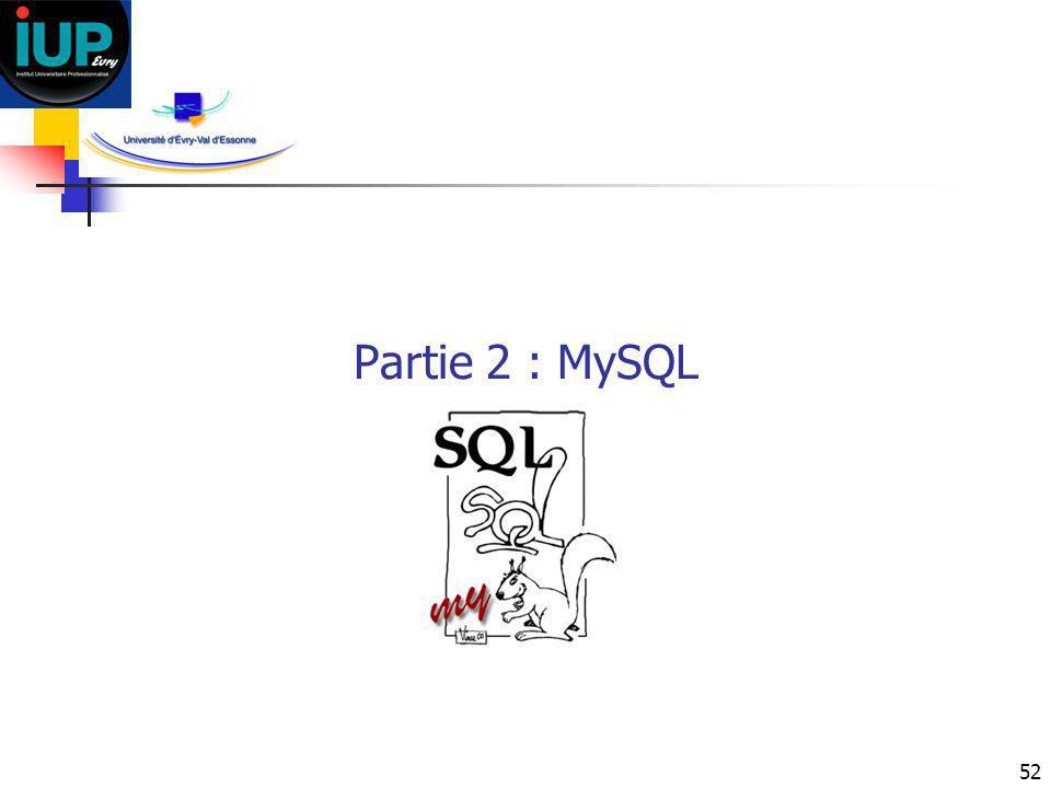 Partie 2 : MySQL