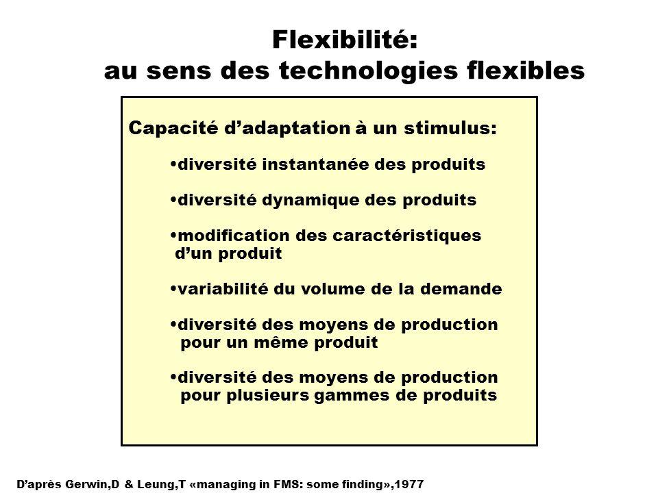 Flexibilité: au sens des technologies flexibles