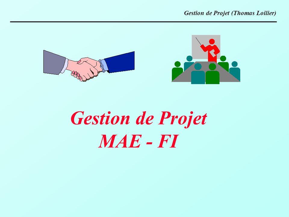Gestion de Projet MAE - FI