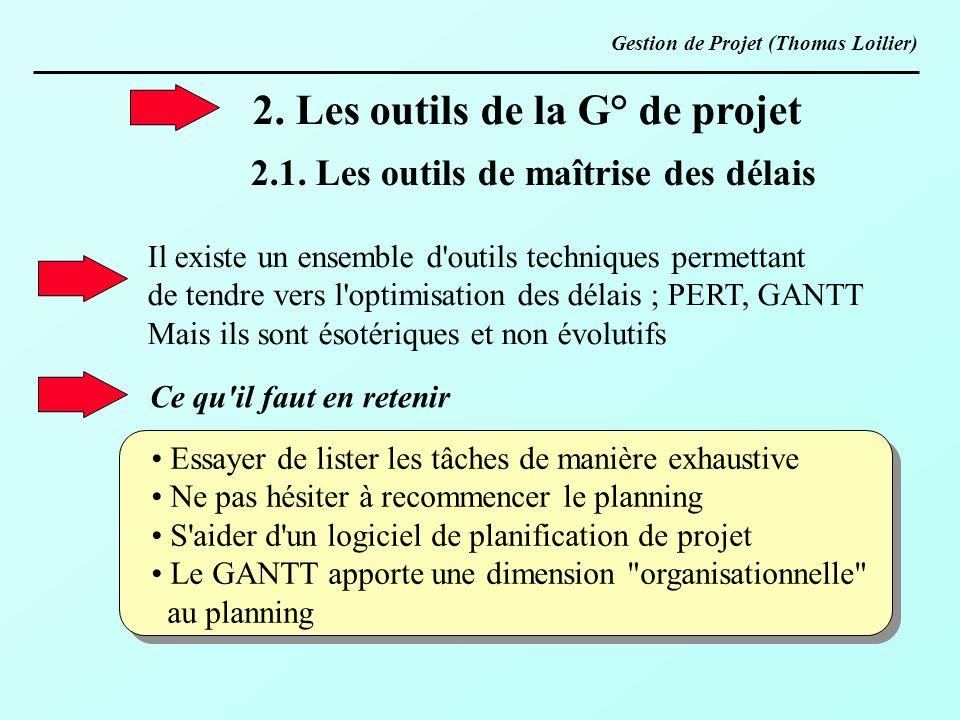 2. Les outils de la G° de projet