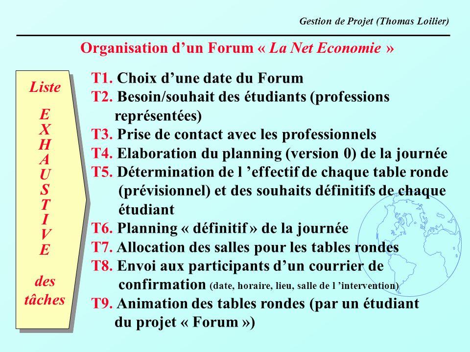 Organisation d'un Forum « La Net Economie »
