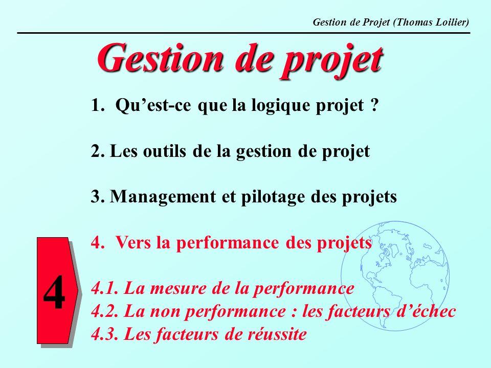 4 Gestion de projet Qu'est-ce que la logique projet