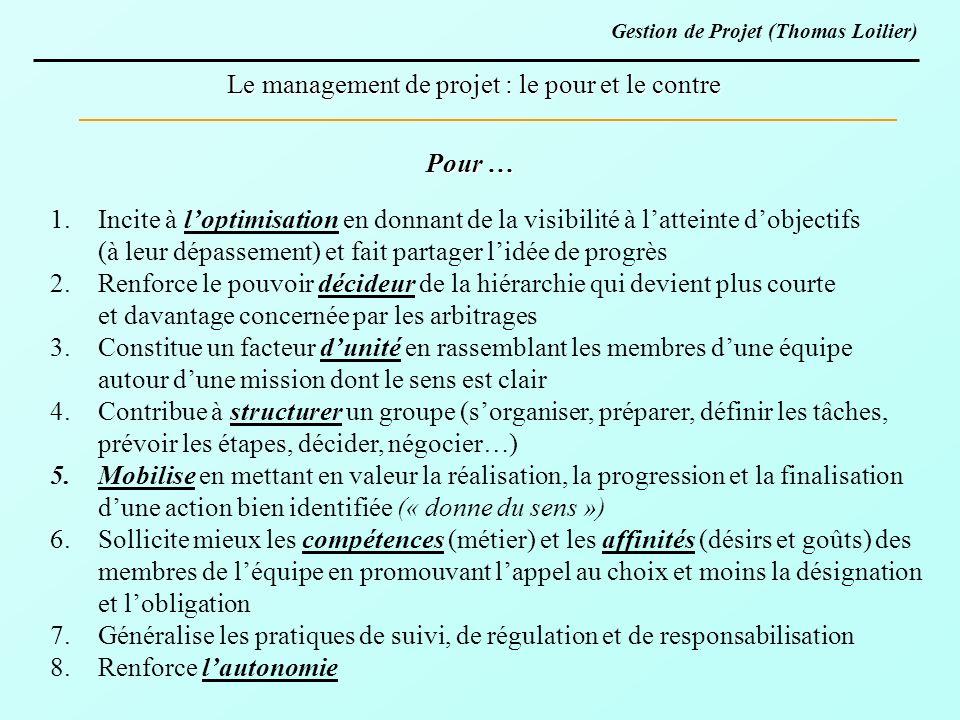 Le management de projet : le pour et le contre