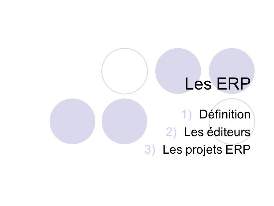 Définition Les éditeurs Les projets ERP