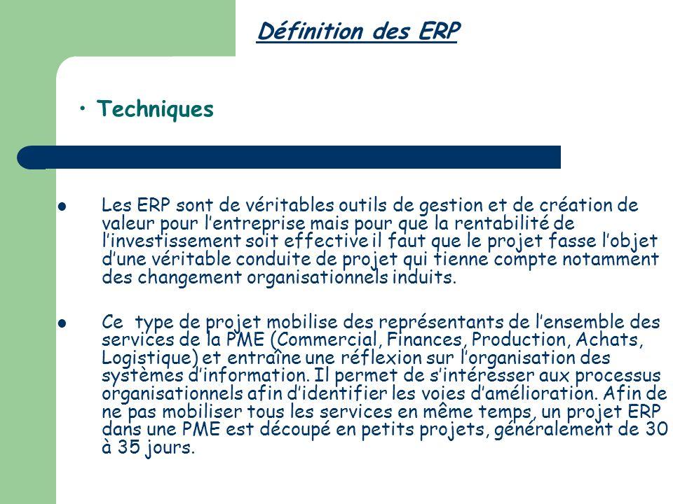 Définition des ERP Techniques