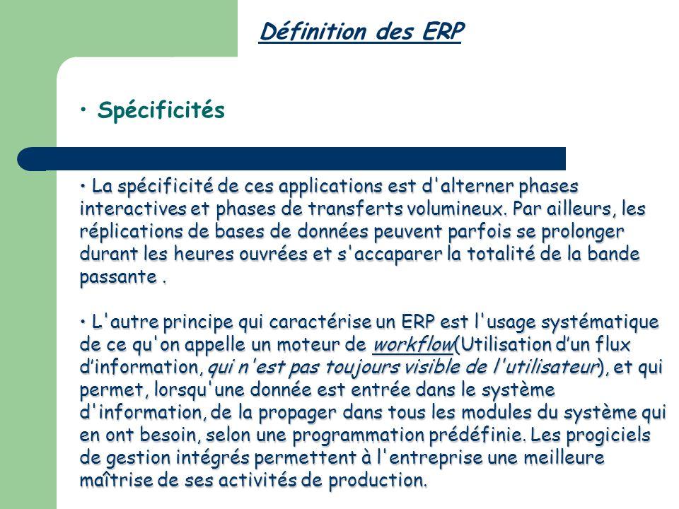 Définition des ERP Spécificités