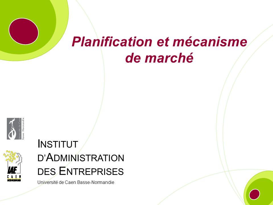 Planification et mécanisme de marché