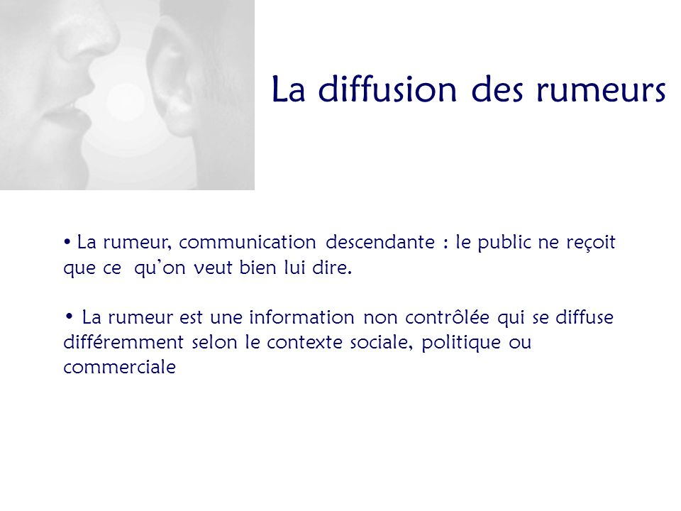 La diffusion des rumeurs