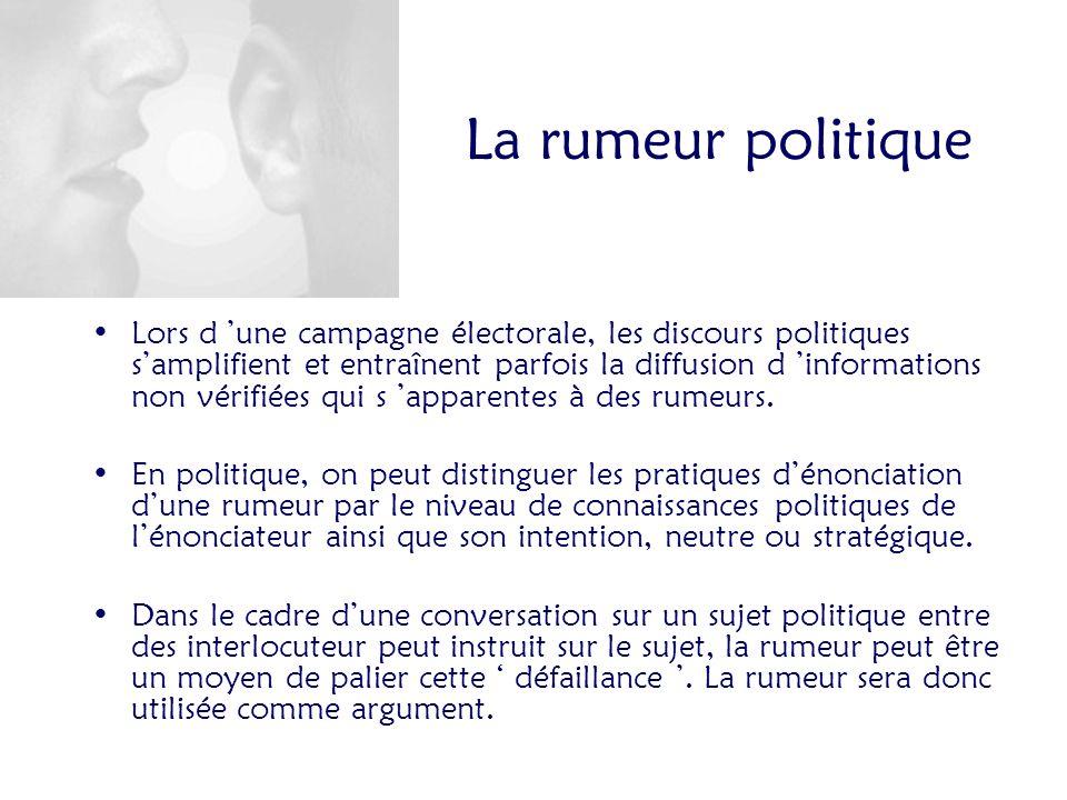 La rumeur politique