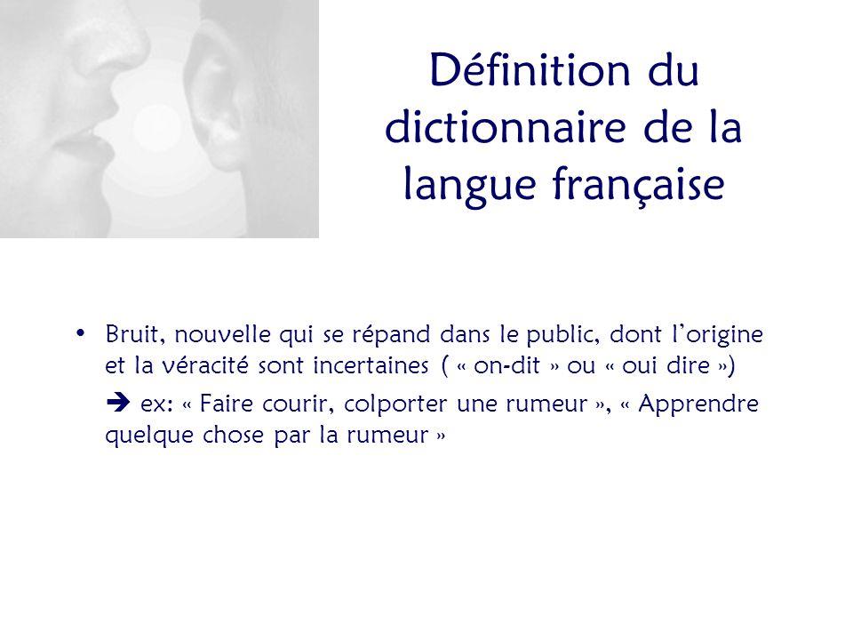 Définition du dictionnaire de la langue française