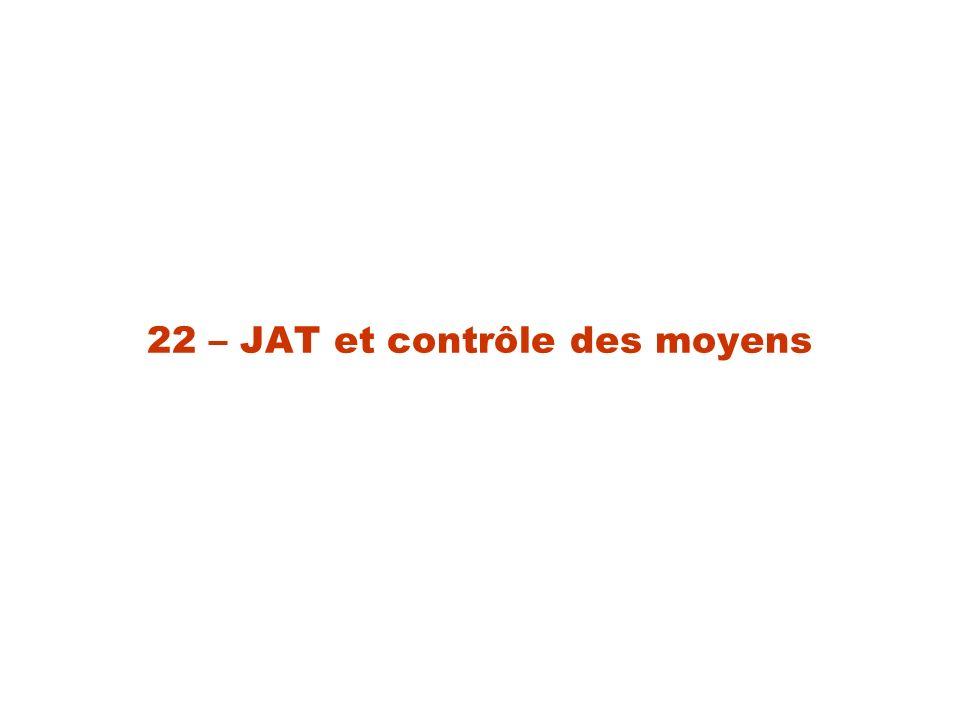 22 – JAT et contrôle des moyens