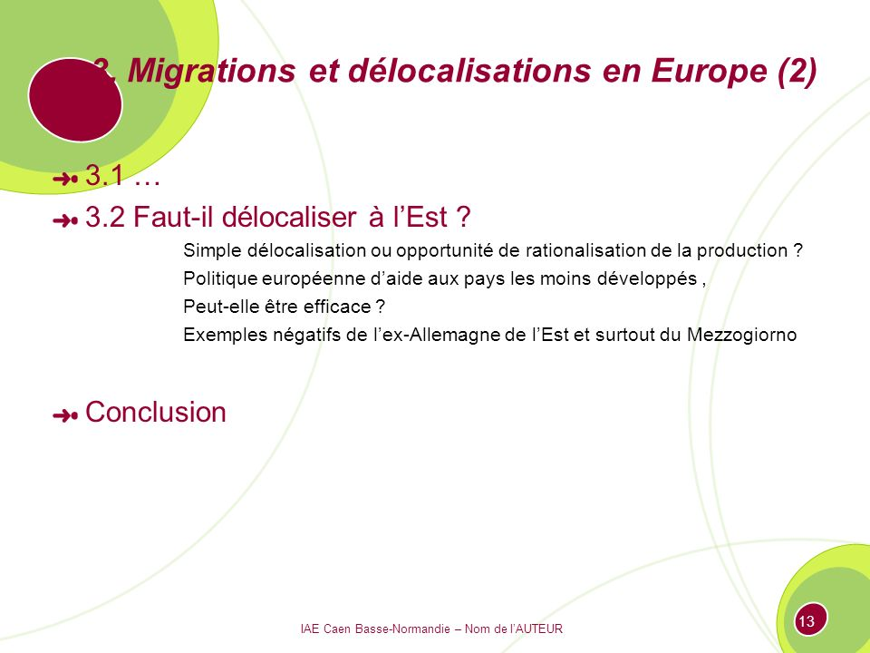 3. Migrations et délocalisations en Europe (2)