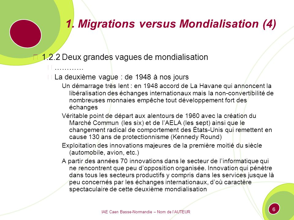 1. Migrations versus Mondialisation (4)