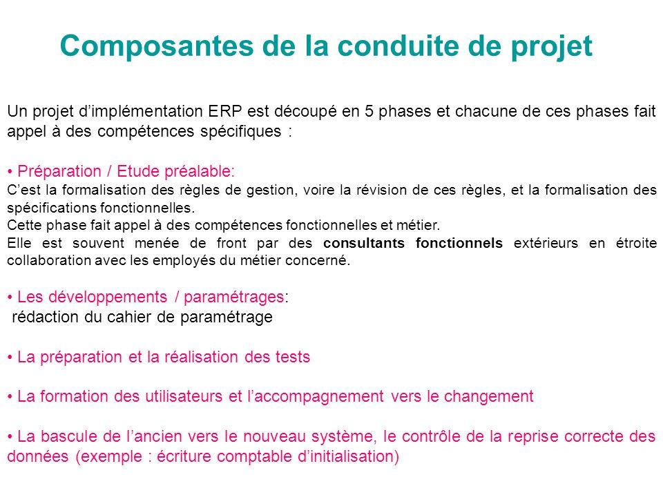 Composantes de la conduite de projet
