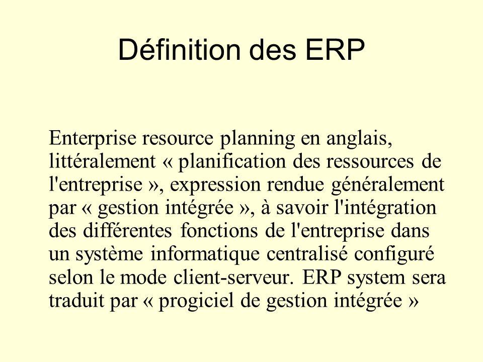 Définition des ERP