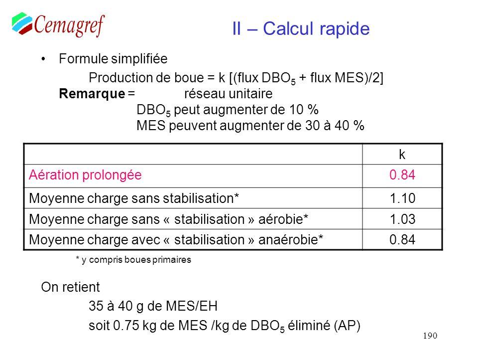 Calcul des besoins en O2 A.S.B. Moyen Aérateurs de surface