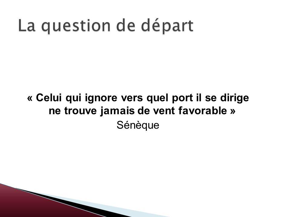 La question de départ« Celui qui ignore vers quel port il se dirige ne trouve jamais de vent favorable »
