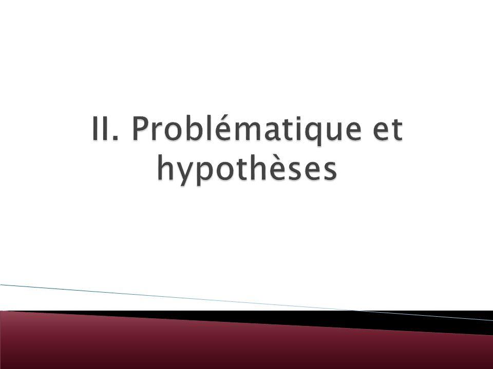 II. Problématique et hypothèses