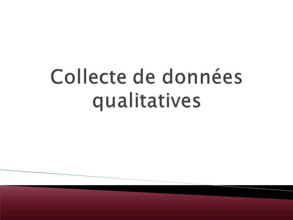 Collecte de données qualitatives