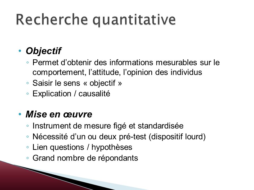 Recherche quantitative