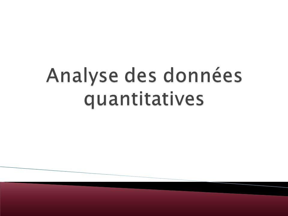 Analyse des données quantitatives