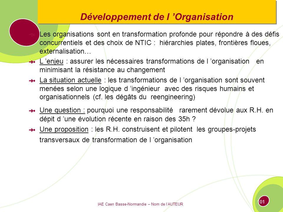 Développement de l 'Organisation