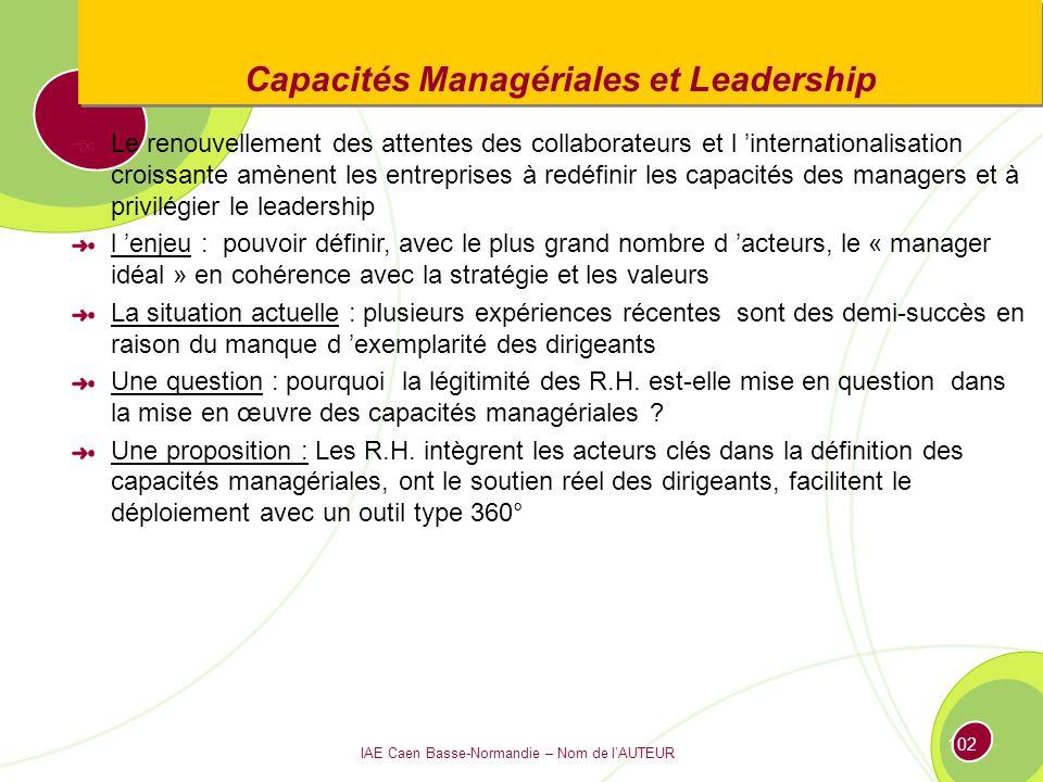 Capacités Managériales et Leadership