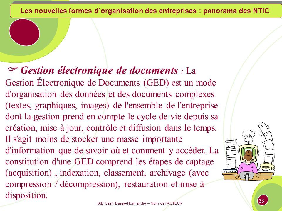 IAE Caen Basse-Normandie – Nom de l'AUTEUR