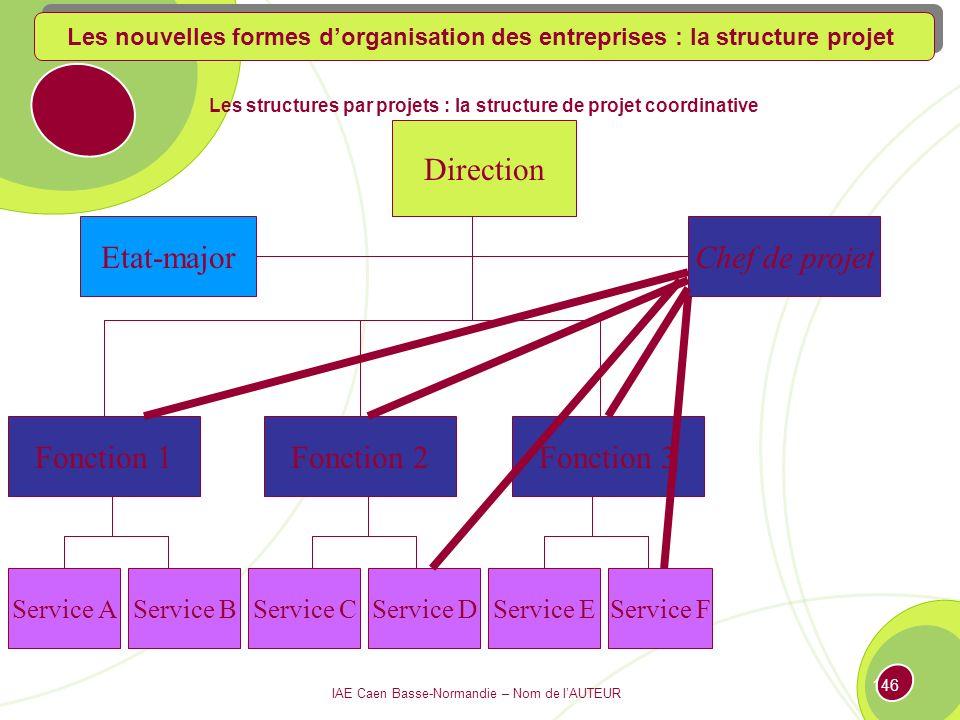 Les structures par projets : la structure de projet coordinative