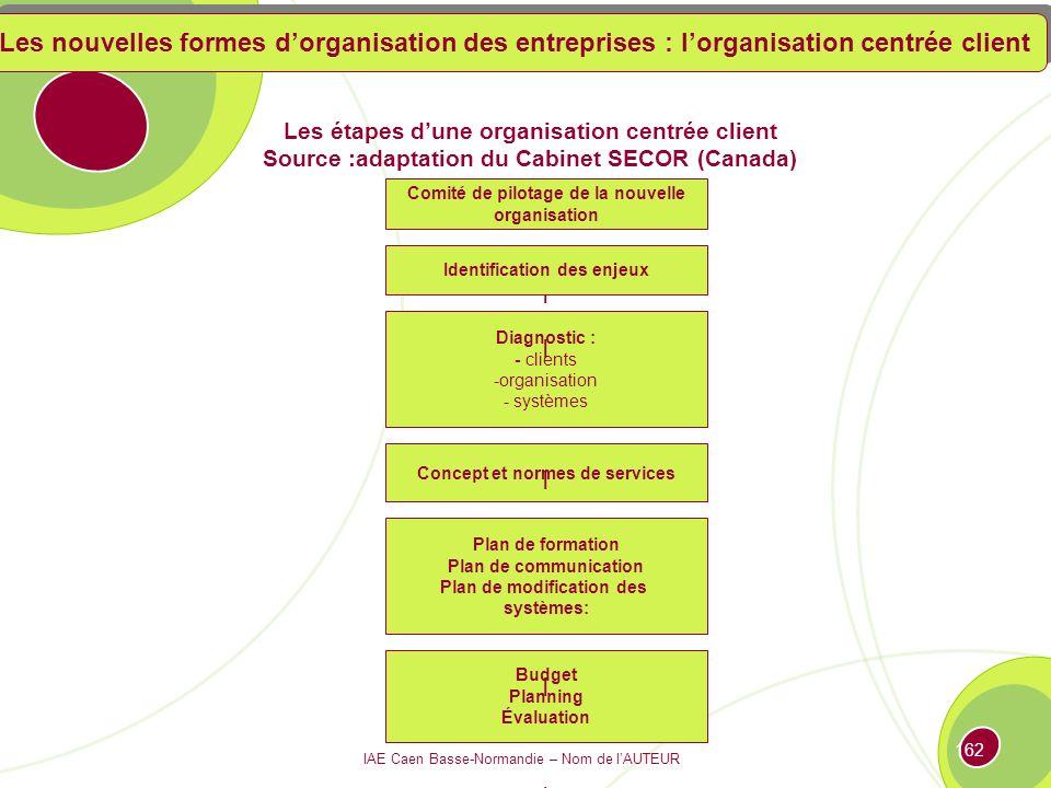 Les nouvelles formes d'organisation des entreprises : l'organisation centrée client