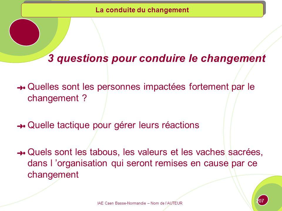 3 questions pour conduire le changement