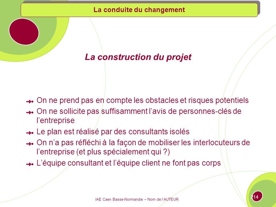 La construction du projet