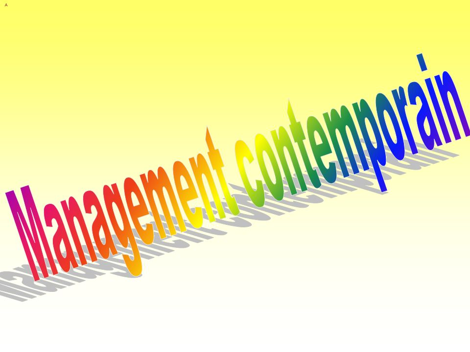 Management contemporain