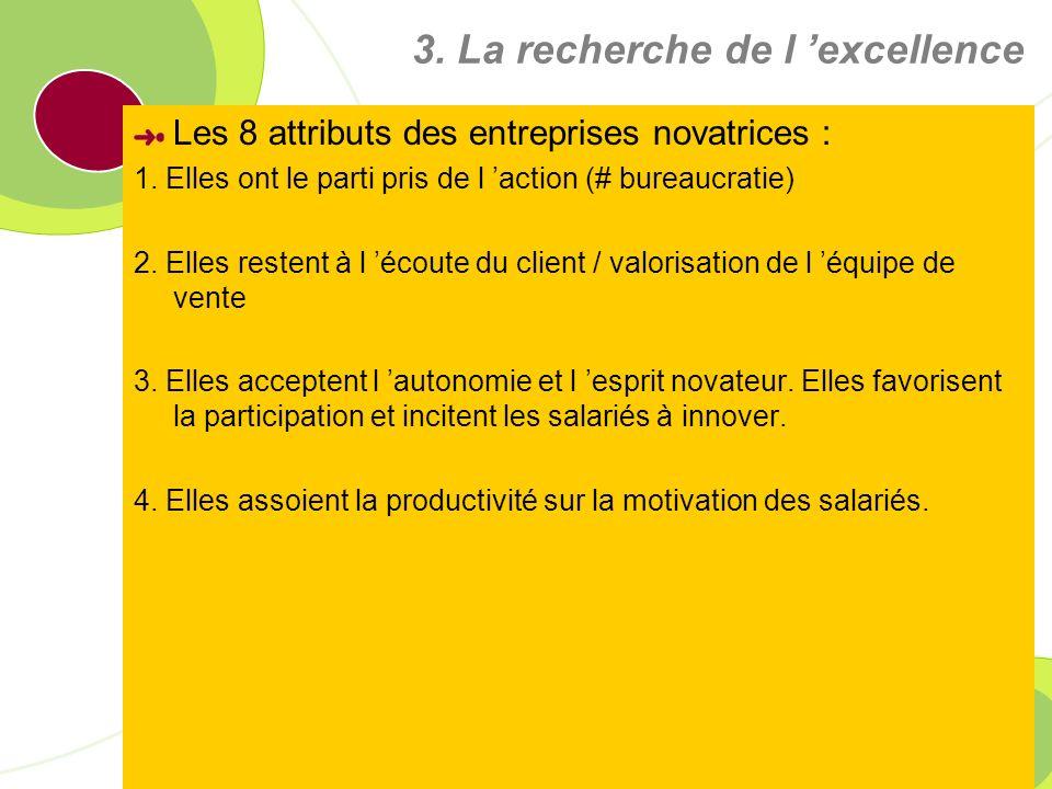 3. La recherche de l 'excellence