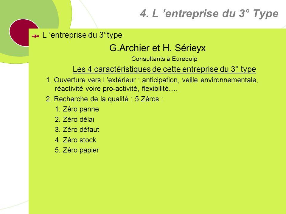 4. L 'entreprise du 3° Type G.Archier et H. Sérieyx