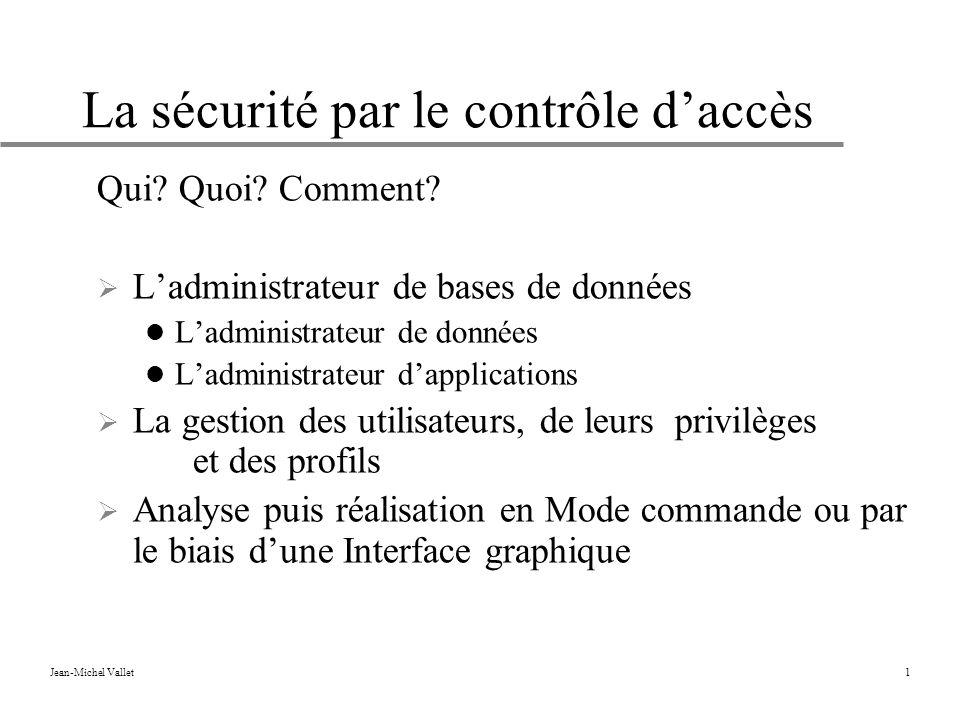 La sécurité par le contrôle d'accès
