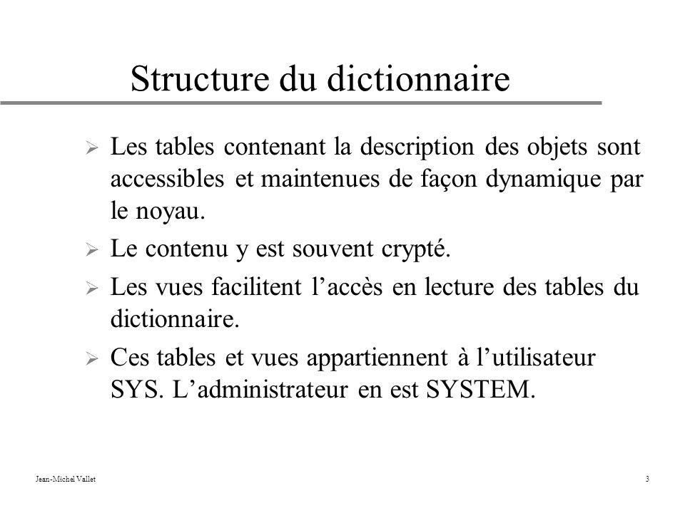 Structure du dictionnaire