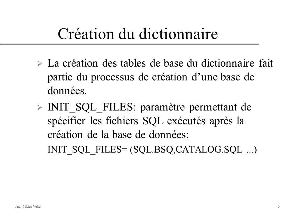 Création du dictionnaire