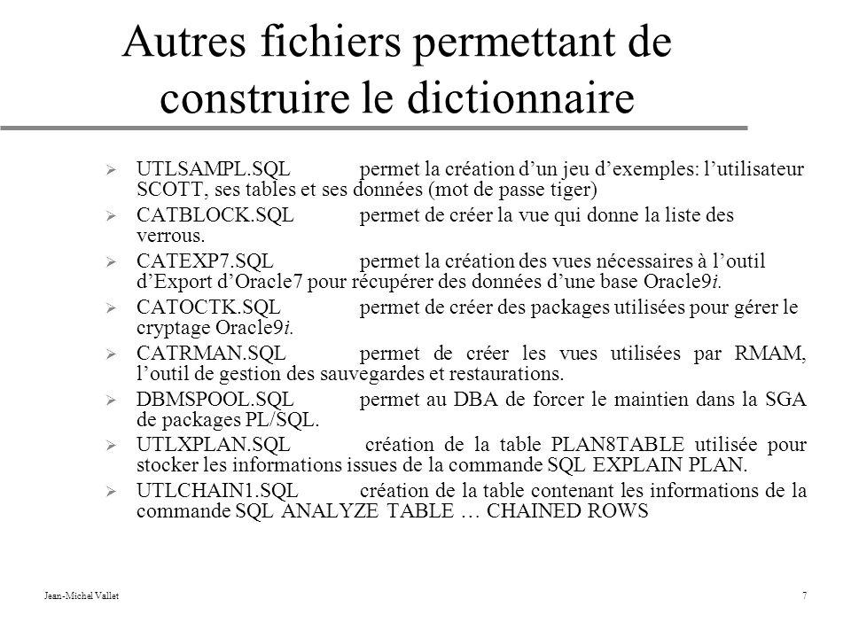 Autres fichiers permettant de construire le dictionnaire