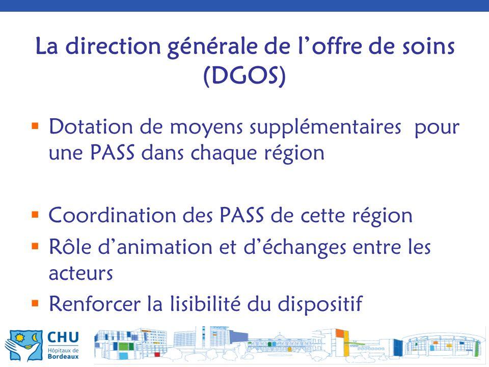 La direction générale de l'offre de soins (DGOS)