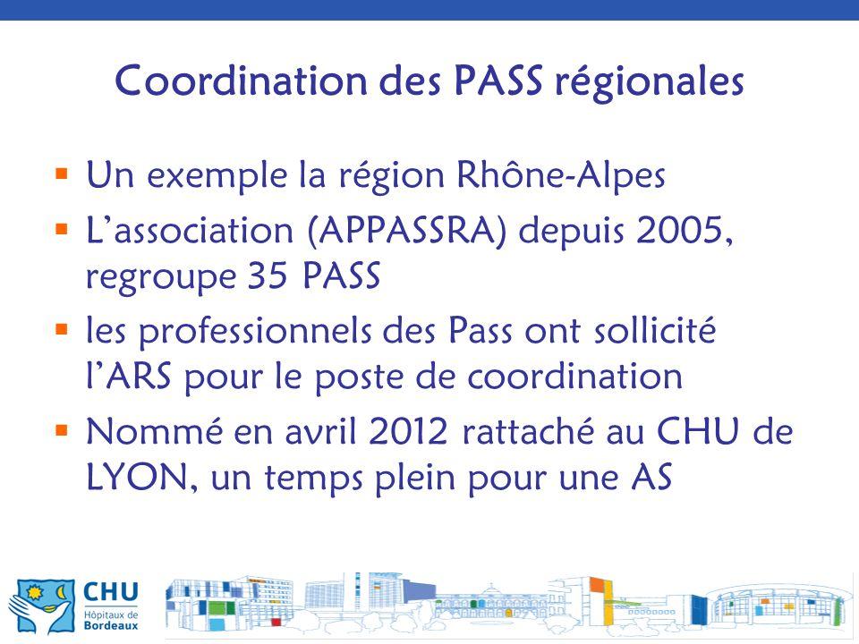 Coordination des PASS régionales