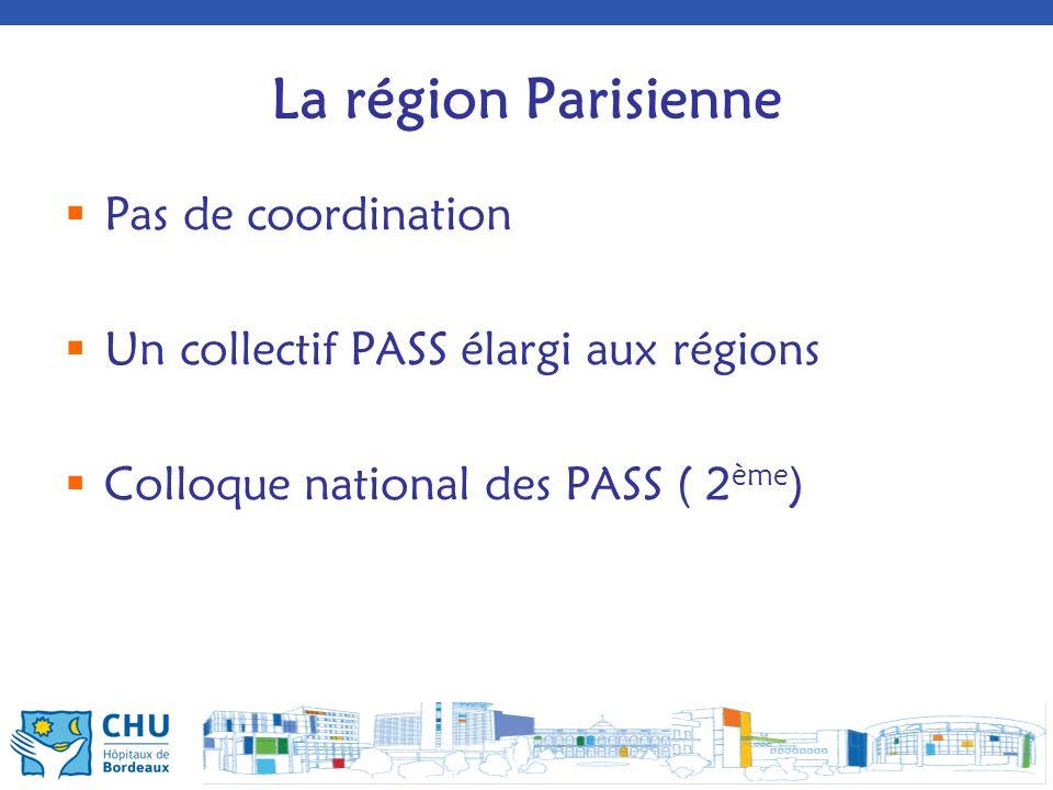 La région Parisienne Pas de coordination