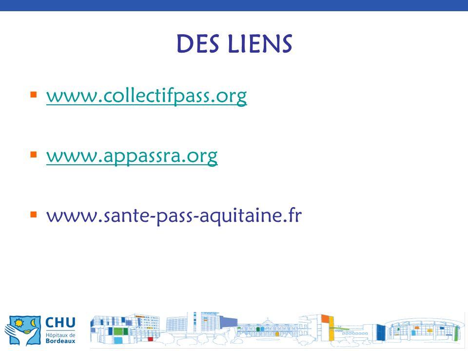 DES LIENS www.collectifpass.org www.appassra.org